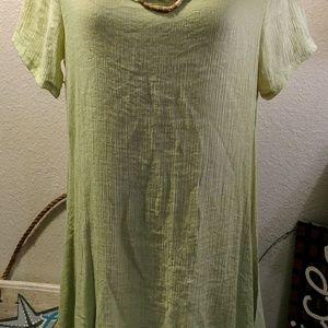 ce8bd88aa2 no brand Dresses - SALE! Artsy 2 layer linen dress M   necklace
